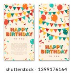 happy birthday greeting cards ... | Shutterstock .eps vector #1399176164