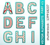 retro alphabet letters. vector... | Shutterstock .eps vector #139918237