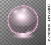 vector realistic pink... | Shutterstock .eps vector #1399208567