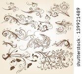 vector set of swirl vintage... | Shutterstock .eps vector #139921489