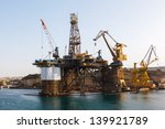 repair oil platform in the... | Shutterstock . vector #139921789