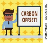 writing note showing carbon... | Shutterstock . vector #1399231487