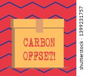 text sign showing carbon offset.... | Shutterstock . vector #1399231757