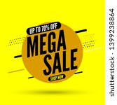 round mega sale banner  up to... | Shutterstock .eps vector #1399238864