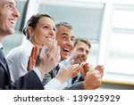 group of cheerful... | Shutterstock . vector #139925929