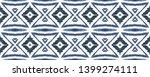 indigo ethnic decorative... | Shutterstock . vector #1399274111