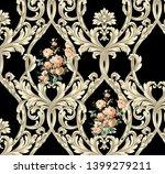 golden elements in baroque ... | Shutterstock . vector #1399279211
