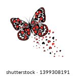 abstract butterfly with red... | Shutterstock .eps vector #1399308191