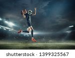 young female soccer or football ... | Shutterstock . vector #1399325567