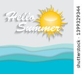 abstract summer background whit ... | Shutterstock .eps vector #1399329344