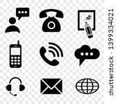 contact us icon vector isolated ... | Shutterstock .eps vector #1399334021