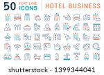 set of vector line icons of... | Shutterstock .eps vector #1399344041
