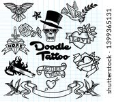 old school  tattoo   icons set... | Shutterstock . vector #1399365131