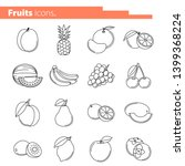 set of fruits icons. vector... | Shutterstock .eps vector #1399368224