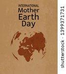 international mother earth day... | Shutterstock .eps vector #1399371731