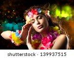 Luau Party Girl. Exotic Hula...