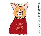 corgi dog breed lettering... | Shutterstock . vector #1399377851