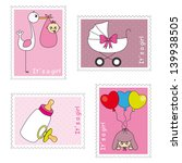 stamps baby girl | Shutterstock .eps vector #139938505