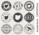 ohio set of stamps. travel... | Shutterstock .eps vector #1399395161