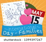 cute doodle drawing with happy... | Shutterstock .eps vector #1399397267