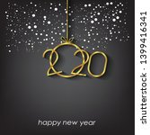 2020 happy new year background... | Shutterstock .eps vector #1399416341