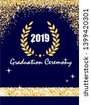 graduation ceremony banner with ... | Shutterstock .eps vector #1399420301