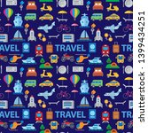 travel seamless pattern of... | Shutterstock .eps vector #1399434251