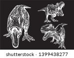 graphical set of tyrannosaurus... | Shutterstock .eps vector #1399438277