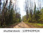 forest road on a sunny day.... | Shutterstock . vector #1399439924