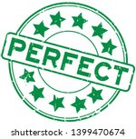 grunge green perfect word with...   Shutterstock .eps vector #1399470674