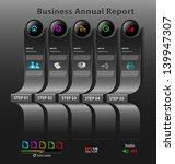 stylized presentation option... | Shutterstock .eps vector #139947307
