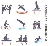 sport icons. vector set | Shutterstock .eps vector #139950019