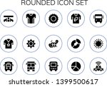 rounded icon set. 15 filled... | Shutterstock .eps vector #1399500617