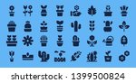 flora icon set. 32 filled flora ... | Shutterstock .eps vector #1399500824