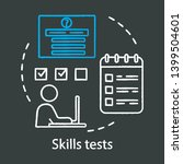 skills tests chalk concept icon.... | Shutterstock .eps vector #1399504601