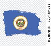 flag of  minnesota from brush...