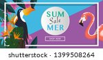 tropical and summer time... | Shutterstock .eps vector #1399508264
