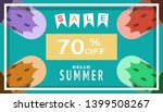 summer time background template ... | Shutterstock .eps vector #1399508267