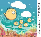 sea wildlife  set of cute ... | Shutterstock .eps vector #1399528814