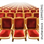 rows of plush red seats in a... | Shutterstock . vector #139952941