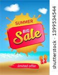 summer big sale banner with sun ...