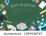set of back to school objects... | Shutterstock .eps vector #1399538747