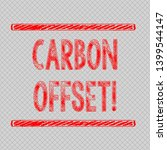 writing note showing carbon... | Shutterstock . vector #1399544147