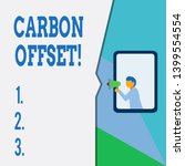 text sign showing carbon offset.... | Shutterstock . vector #1399554554