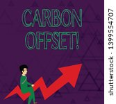 writing note showing carbon... | Shutterstock . vector #1399554707