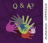 word writing text q and a... | Shutterstock . vector #1399555214