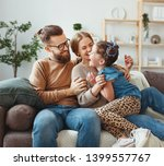 happy family mother father and... | Shutterstock . vector #1399557767