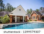 large blue swimming pool... | Shutterstock . vector #1399579307
