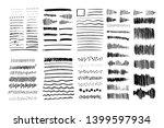 set of vector grungy graphite...   Shutterstock .eps vector #1399597934