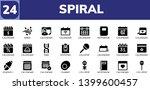 spiral icon set. 24 filled...